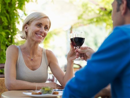 Couple at Cafe Stock Photo - Premium Royalty-Free, Code: 600-01716394