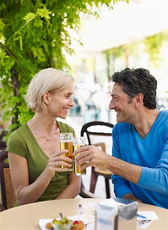 Couple at Cafe Stock Photo - Premium Royalty-Free, Code: 600-01716392