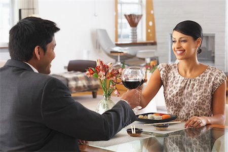 Couple Dining Stock Photo - Premium Royalty-Free, Code: 600-01753554