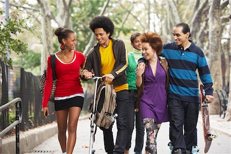 sports scooters - Teenagers Hanging Out Stock Photo - Premium Royalty-Free, Code: 600-01764054