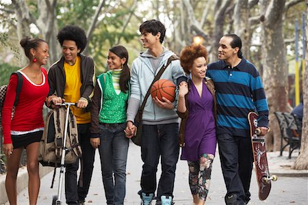 sports scooters - Teenagers Hanging Out Stock Photo - Premium Royalty-Free, Code: 600-01764055