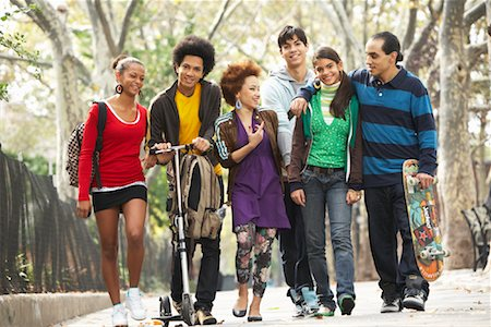 sports scooters - Teenagers Hanging Out Stock Photo - Premium Royalty-Free, Code: 600-01764053