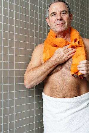 Portrait of Man in Bathroom Stock Photo - Premium Royalty-Free, Code: 600-01764508