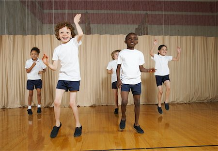 Kids in Gym Class Stock Photo - Premium Royalty-Free, Code: 600-01764809