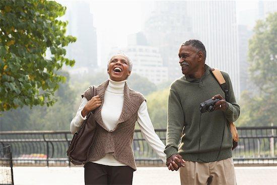 Couple Walking in City, New York City, New York, USA Stock Photo - Premium Royalty-Free, Artist: Masterfile, Image code: 600-01787325