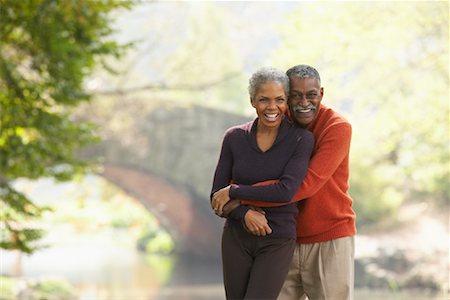 Portrait of Couple in City Park, New York City, New York, USA Stock Photo - Premium Royalty-Free, Code: 600-01787340