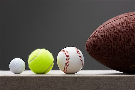 Variety of Sports Balls Stock Photo - Premium Royalty-Free, Code: 600-01790090