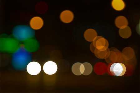 Blurred City Lights at Night Stock Photo - Premium Royalty-Free, Code: 600-01790136