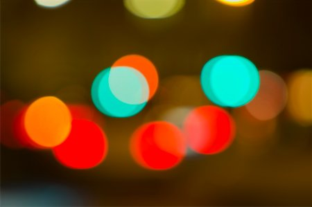 Blurred City Lights at Night Stock Photo - Premium Royalty-Free, Code: 600-01790140