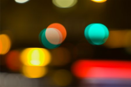 Blurred City Lights at Night Stock Photo - Premium Royalty-Free, Code: 600-01790141