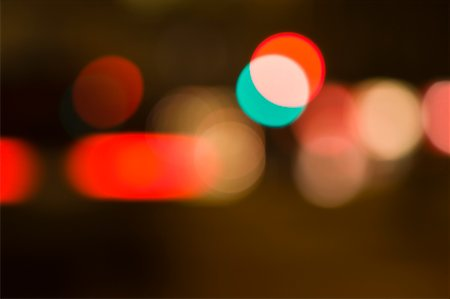 Blurred City Lights at Night Stock Photo - Premium Royalty-Free, Code: 600-01790142