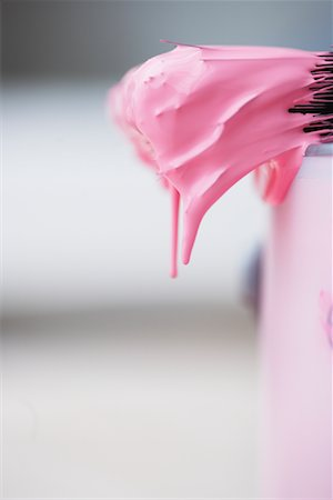 dripping colour art - Close-Up of Paint Brush Dripping Pink Paint Stock Photo - Premium Royalty-Free, Code: 600-01827177