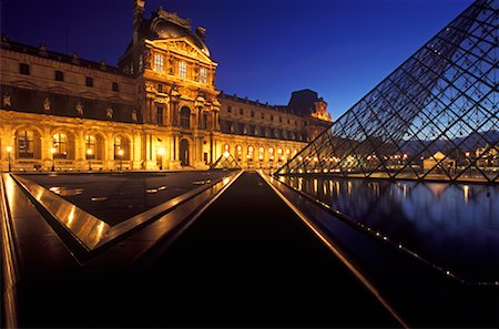 simsearch:600-02428966,k - The Louvre at Night, Paris, France Stock Photo - Premium Royalty-Free, Code: 600-01878687