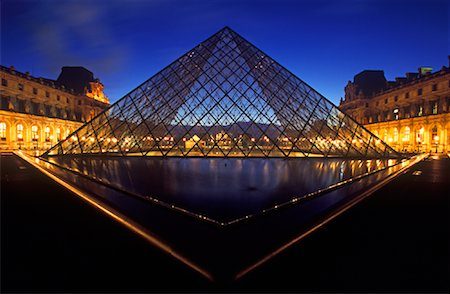 simsearch:600-02428966,k - The Louvre at Night, Paris, France Stock Photo - Premium Royalty-Free, Code: 600-01878688