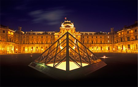 simsearch:600-02428966,k - The Louvre at Night, Paris, France Stock Photo - Premium Royalty-Free, Code: 600-01878689