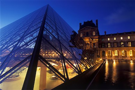 simsearch:600-02428966,k - The Louvre at Night, Paris, France Stock Photo - Premium Royalty-Free, Code: 600-01878694