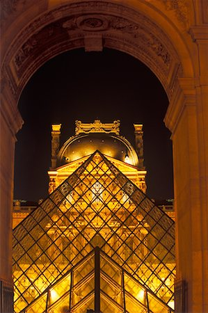 simsearch:600-02428966,k - The Louvre at Night, Paris, France Stock Photo - Premium Royalty-Free, Code: 600-01878690