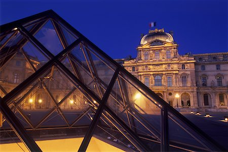 simsearch:600-02428966,k - The Louvre at Night, Paris, France Stock Photo - Premium Royalty-Free, Code: 600-01878693