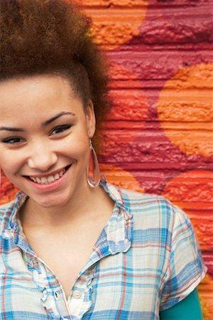 dyed - Portrait of Teenaged Girl Stock Photo - Premium Royalty-Free, Code: 600-02033778