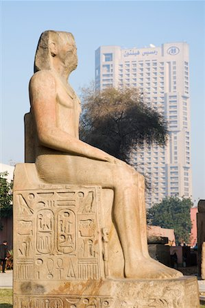 egyptian hieroglyphics - Statue at the Egyptian Museum, Cairo, Egypt Stock Photo - Premium Royalty-Free, Code: 600-02033818