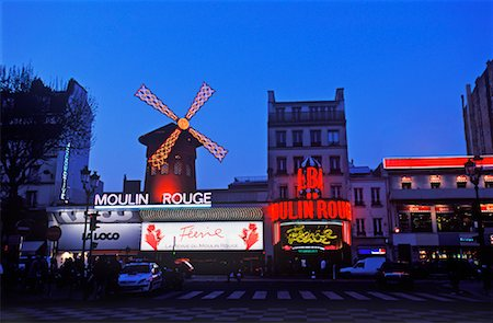 simsearch:600-02428966,k - Moulin Rouge at Night, Paris, France Stock Photo - Premium Royalty-Free, Code: 600-02045892