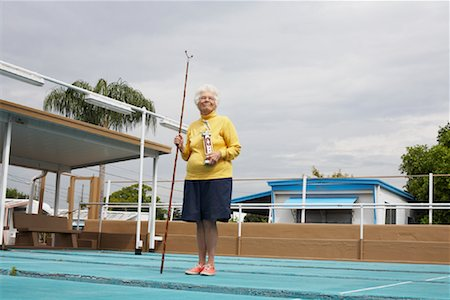 Portrait of Shuffleboard Champion, Florida, USA Stock Photo - Premium Royalty-Free, Code: 600-02046082