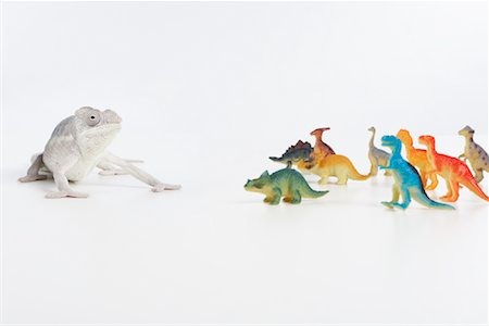 Lizard with Toy Dinosaurs Stock Photo - Premium Royalty-Free, Code: 600-02055797
