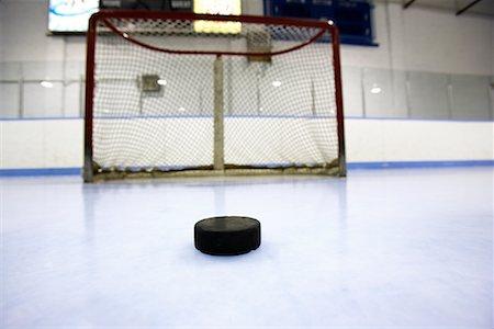 Hockey Puck and Net Stock Photo - Premium Royalty-Free, Code: 600-02056042