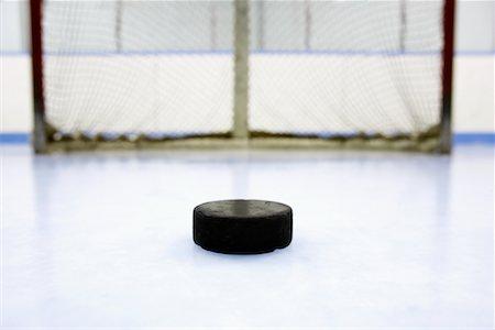 Hockey Puck and Net Stock Photo - Premium Royalty-Free, Code: 600-02056043