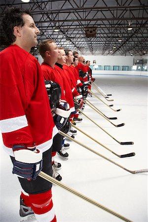 Hockey Team During National Anthem Stock Photo - Premium Royalty-Free, Code: 600-02056096