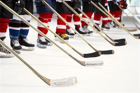 Hockey Team During National Anthem Stock Photo - Premium Royalty-Free, Code: 600-02056097