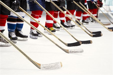 Hockey Team During National Anthem Stock Photo - Premium Royalty-Free, Code: 600-02056097
