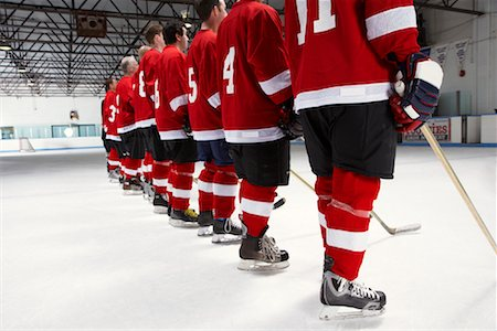 Hockey Team During National Anthem Stock Photo - Premium Royalty-Free, Code: 600-02056098