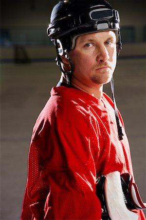 Portrait of Hockey Player Stock Photo - Premium Royalty-Free, Code: 600-02056100