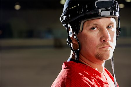 Portrait of Hockey Player Stock Photo - Premium Royalty-Free, Code: 600-02056101