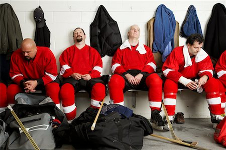 Hockey Team in Dressing Room Stock Photo - Premium Royalty-Free, Code: 600-02056111