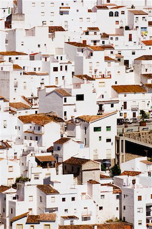 Overview of Town, Casares, Andalucia, Spain Stock Photo - Premium Royalty-Free, Code: 600-02056794
