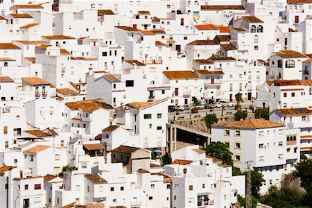 Overview of Town, Casares, Andalucia, Spain Stock Photo - Premium Royalty-Free, Code: 600-02056795