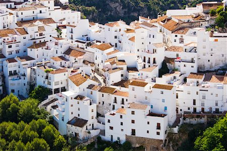 Overview of Town, Casares, Andalusia, Spain Stock Photo - Premium Royalty-Free, Code: 600-02056796
