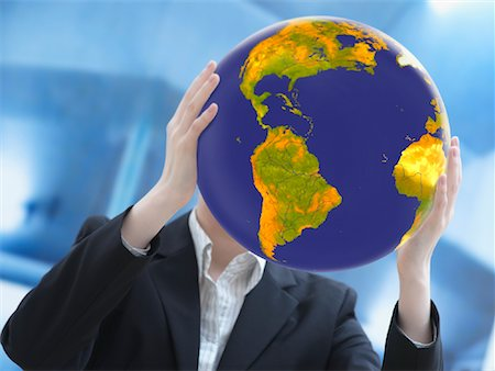 Woman Holding Earth Stock Photo - Premium Royalty-Free, Code: 600-02071259
