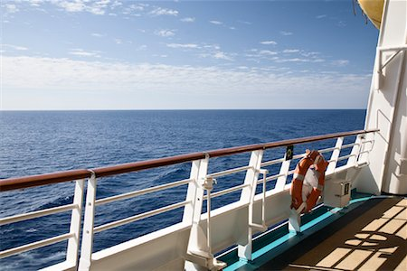 Deck of Cruise Ship Stock Photo - Premium Royalty-Free, Code: 600-02080928