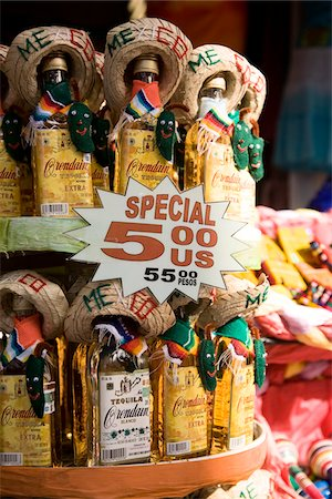 Tequila for Sale, Cozumel, Mexico Stock Photo - Premium Royalty-Free, Code: 600-02080932