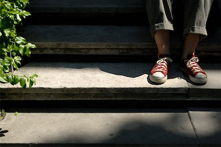 Woman's Feet on Stairs Stock Photo - Premium Royalty-Free, Code: 600-02121647