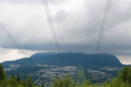 High Voltage Transmission Lines, Coquitlam, British Columbia, Canada Stock Photo - Premium Royalty-Free, Code: 600-02130534