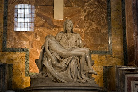 Pieta, St Peter's Basilica, Vatican City, Rome, Latium, Italy Stock Photo - Premium Royalty-Free, Code: 600-02176069