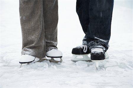 Couple on Skates Stock Photo - Premium Royalty-Free, Code: 600-02200095