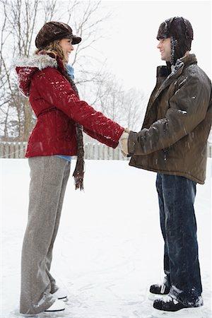 Couple Skating Stock Photo - Premium Royalty-Free, Code: 600-02200093