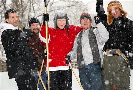 Men Cheering with Hockey Sticks Stock Photo - Premium Royalty-Free, Code: 600-02200122