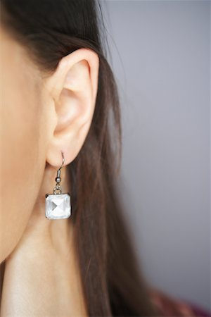 Close-up of Woman's Earring Stock Photo - Premium Royalty-Free, Code: 600-02200185