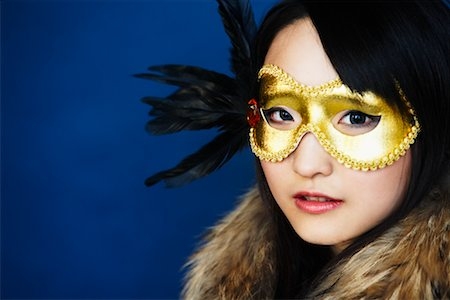 Portrait of Woman Wearing Mask Stock Photo - Premium Royalty-Free, Code: 600-02200247